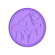 piano drinkcoaster positive_fixed.stl Download free STL file Piano drinkcoaster pair • Model to 3D print, IdeaLab