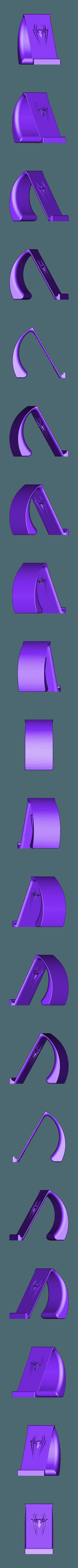 SPIDERMAN Phone Holder.STL Download STL file SPIDERMAN Phone Holder • 3D printer template, IceKiwi