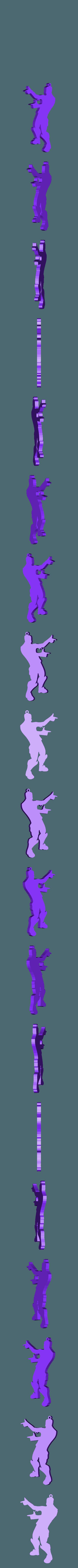 PISTOLAS (FINGER GUNS).stl Télécharger fichier STL gratuit PISTOLETS À DOIGTS - PORTE-CLÉS FORTNITE DANCE • Objet pour impression 3D, MagnusBee