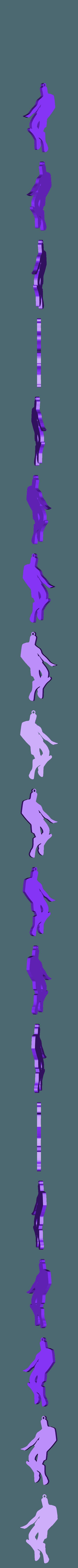 MENEO (WIGGLE).stl Télécharger fichier STL gratuit WIGGLE - PORTE-CLÉS FORTNITE DANCE • Design à imprimer en 3D, MagnusBee