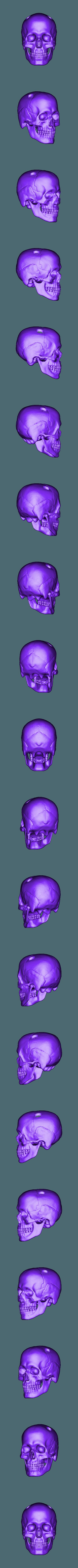 Skullforkeychain.stl Télécharger fichier STL gratuit Crâne pour porte-clés • Plan pour impression 3D, cchampjr