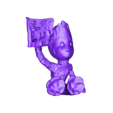 BgILUhollow.stl Download free STL file Baby Groot ILU • 3D printable model, cchampjr