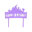 Happy Birthday Fortnite cake topper.stl Download free STL file Happy Birthday Fortnite cake topper • 3D printable object, MagnusBee