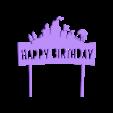 Happy Birthday Fortnite cake topper.stl Download free STL file Happy Birthday Fortnite cake topper • 3D printable object, MagnusBee