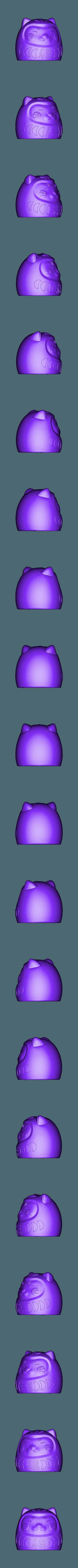 Daruma_Body.stl Télécharger fichier STL gratuit DARUMA-NEKO • Design pour impression 3D, imaginestudio