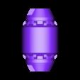 CanonPod_Right.stl Download STL file Hammond's Wrecking Ball Mech from Overwatch • 3D printer template, FunbieStudios