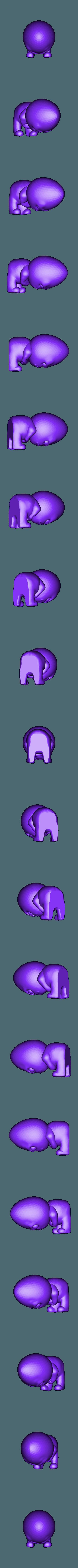 angry egg.stl Descargar archivo STL gratis grumpy Egg • Diseño para imprimir en 3D, diegokrause