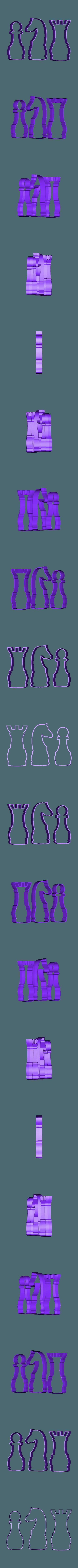 AJEDREZ peon caballo torre filo .STL Télécharger fichier STL gratuit Échecs pour coupe-biscuits • Design à imprimer en 3D, ledblue