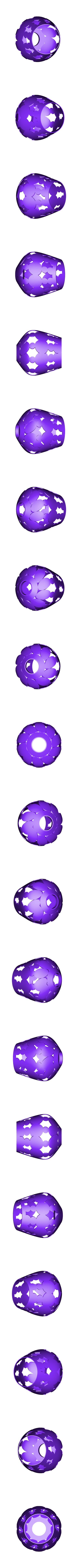 bubble V 4 .stl Download STL file bubble lamp shade • 3D printing design, motek