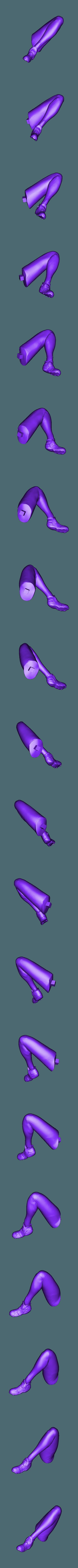 Leg_L.stl Download free STL file Ana Amari - Overwatch • 3D print template, Frazus