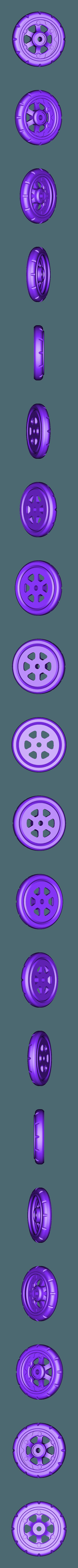 Wheel_Balloon_Front_L.stl Télécharger fichier STL gratuit Vapemobile : Voiture jouet pneumatique • Modèle pour imprimante 3D, Slava_Z