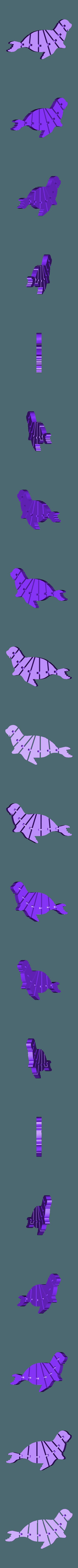120_seehund_full.STL Télécharger fichier STL gratuit Phoque Flexi articulé pour chien de mer • Design pour impression 3D, jtronics