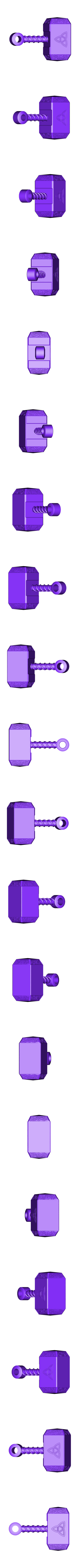 Thorpendandzbrush3.stl Download free STL file Thorhammerpendant • 3D printable template, cchampjr