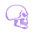 punk hairy 3_fixed.stl Download free STL file Skull keychain with hair • 3D printing design, 3dlito