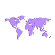 world map.STL Download free STL file World map • 3D print template, osayomipeters