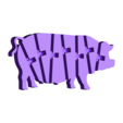 120_schwein_full.STL Télécharger fichier STL gratuit Cochon articulé Flexi • Modèle imprimable en 3D, jtronics