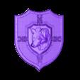 14.stl Télécharger fichier STL gratuit Cadre loup art loup blason • Design pour imprimante 3D, Terhrinai