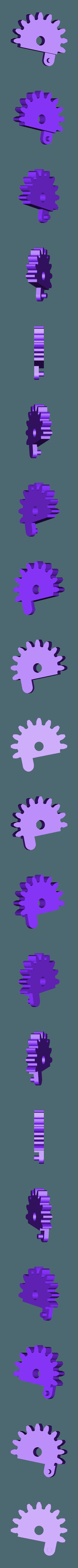 Spur_Gear_L.stl Download free STL file Mechanical Quick Grab/Release Phone Stand • 3D printable object, arron_mollet22