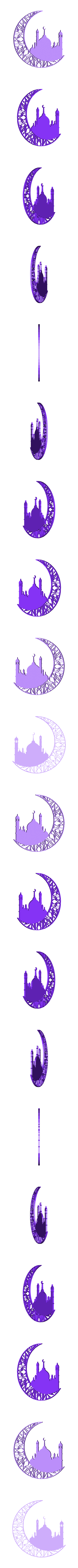 Ramadan_moon.stl Download free STL file Ramadan Moon • 3D printable template, YEHIA