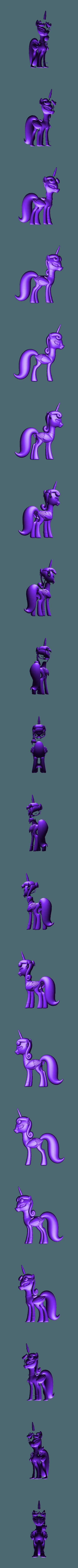 RockerPony.stl Download free OBJ file Punk Pony • 3D printable design, CarlCreates