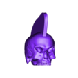 Punk_skull.obj Download free OBJ file Punk skull • 3D printer model, CarlCreates