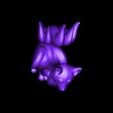 TJG_Kitsune_V2.stl Download free STL file Kitsune - Easy Print, no supports required. New V3!!! • Design to 3D print, ThatJoshGuy