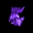 TJG_Kitsune_V3.stl Download free STL file Kitsune - Easy Print, no supports required. New V3!!! • Design to 3D print, ThatJoshGuy