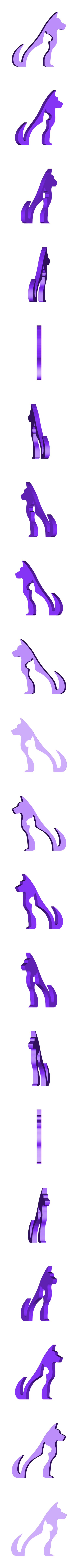hund_katz_hase_maus_hu.STL Download free STL file Animal Silhouette - Dog Cat Rabbit Mouse • 3D printing template, jtronics