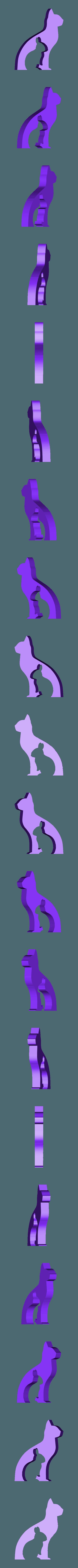 hund_katz_hase_maus_k.STL Download free STL file Animal Silhouette - Dog Cat Rabbit Mouse • 3D printing template, jtronics