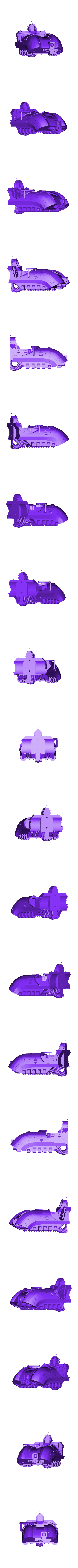 SpeederFuselageFront.stl Download free STL file Angry Air - Frugal Displeased Soldier Deployment Vessel • 3D printing model, FelixTheCrazy