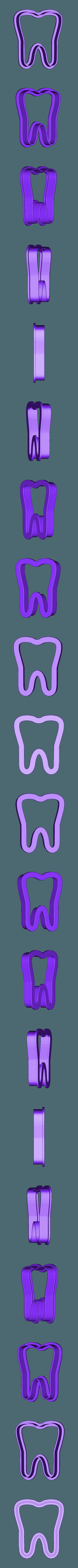 muela.stl Download free STL file Cookie Cutter Tooth • 3D printable model, godaon