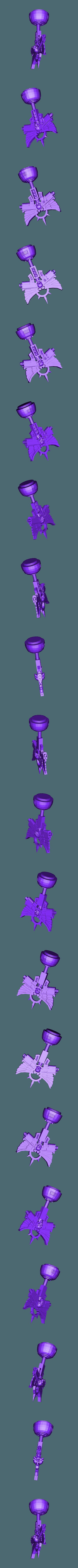 Crozius_L.stl Download free STL file Ultra Inquisitive and Super Pious Mega (and Slightly Insecure) Arachnid • 3D printer design, bentanweihao