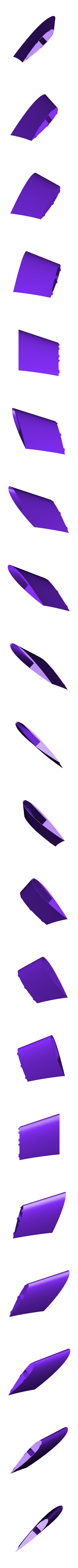 Wing3_L_RC.stl Download free STL file Test part - Flying wing - UAV - The Blackwing - • 3D printable design, Eclipson