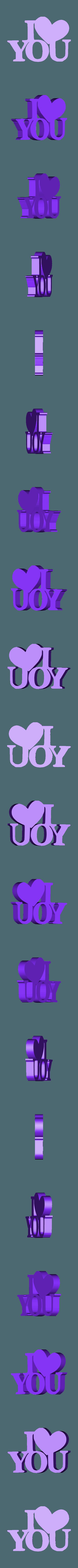 iloveyou.STL Download free STL file <font color=#38B0DE>-==- Proudly Presents • Model to 3D print, allv