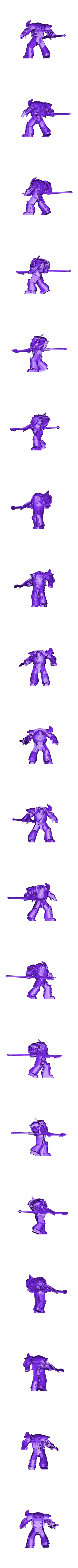 render_repaired.stl Download free STL file 1000 Followers! 3rd Legion - FireBird Terminators • 3D printing model, ThatEvilOne