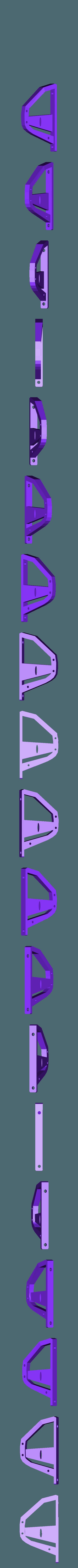 split_x140_15_r.stl Télécharger fichier STL gratuit Helifar X140 Pro - Runcam Split - montage par le haut • Design imprimable en 3D, noctaro