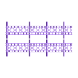 Deck_Sections.stl Download free STL file HO Scale 145 ft Steel Arched Truss Bridge • 3D printer model, kabrumble