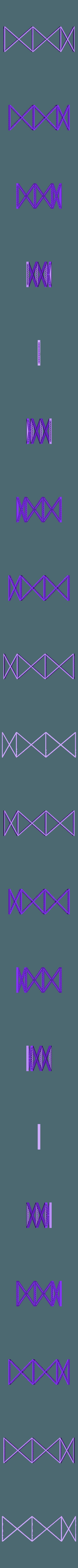Upper_Trusses.stl Download free STL file HO Scale 145 ft Steel Arched Truss Bridge • 3D printer model, kabrumble