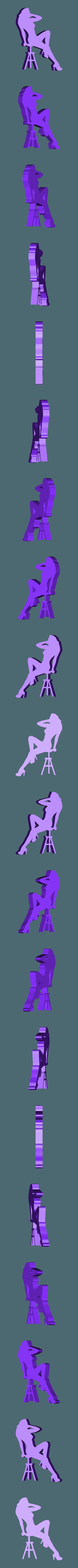 27.stl Télécharger fichier STL Pack Silhouette Sexy • Objet imprimable en 3D, CarlCreates