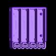 4xAAA_Battery_Socket.stl Télécharger fichier STL gratuit Porte-piles 4xAAA avec ressort intégré (version étroite) • Plan imprimable en 3D, jonnieZG