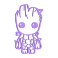 GROOT.STL Download free STL file WALL GROOT • 3D printer template, allv