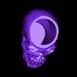 skull_for_battery_tea_light.stl Download free STL file skull battery tea light holder • Template to 3D print, procreator3D