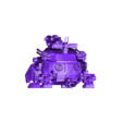 zoid_tank_smooth.stl Download free STL file Zoids: HMM ZOIDS 1/72 RMZ-27 Cannon Tortoise • 3D printing template, Peanut3DButter