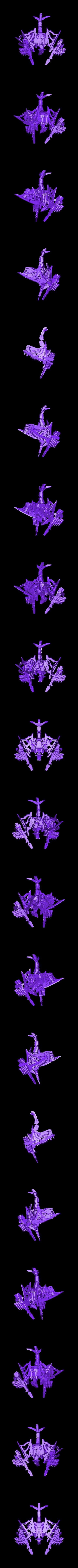 Pteras_Head_Assy.stl Télécharger fichier STL gratuit Zoids : Bombardier Pteras • Plan pour imprimante 3D, Peanut3DButter