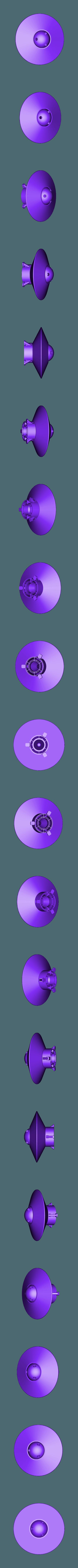 Spinning_UFO.stl Télécharger fichier STL gratuit OVNI avec disque extérieur tournant • Design pour imprimante 3D, Muzz64