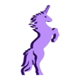 unicorn.stl Download free STL file Unicorn - Stands Up (Balanced by Tail) • 3D printer model, Muzz64