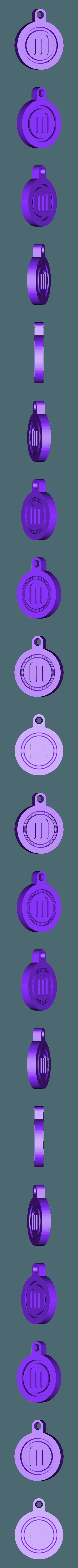 M_key_fob.stl Télécharger fichier STL gratuit Porte-clés rotatif / Fob.... avec logo MakerBot tournant ! • Objet pour imprimante 3D, Muzz64