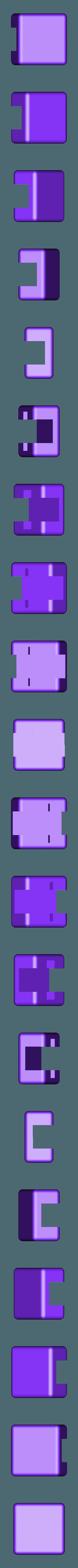 Block.stl Télécharger fichier STL gratuit Bracelet personnalisable - Choisissez vos propres couleurs, imprimez-les et portez-les ensemble ! • Objet imprimable en 3D, Muzz64