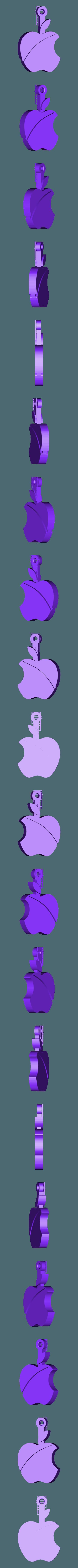 apple_fob.stl Télécharger fichier STL gratuit Porte-clés pomme.... Le must have'Apple Logo' en forme de porte-clés pour Apple / iPhone / iPhone / iPad Fans • Design pour imprimante 3D, Muzz64