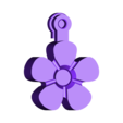 flower_fob_-_solid_.stl Download free STL file Flower Fobs... Flower Key Fobs that Spin! • 3D printing object, Muzz64